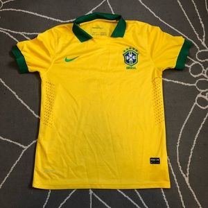 Nike Authentic Team Brazil Soccer Futbal Jersey